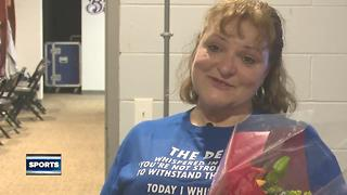 Timber Rattlers honor host mom who beat cancer - Video