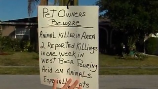 Signs warn about animal killer - Video