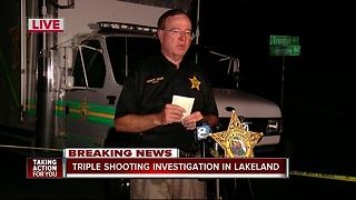 Deputies investigate triple shooting in Lakeland - Video