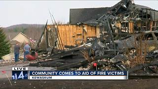 Kewaskum community comes together for fire victims - Video