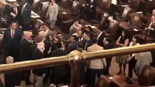Tension Over Immigration Laws Prompts Scuffle in Texas State Capitol - Video