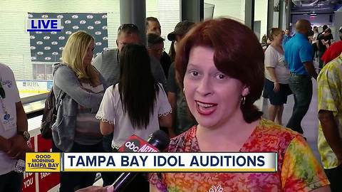 Tampa Bay Idol 2018 auditions in Wesley Chapel today