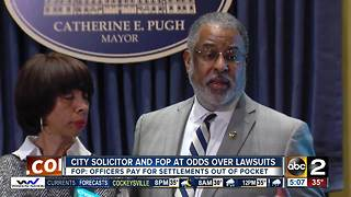 City Solicitor and Baltimore FOP at odds over lawsuit settlements - Video