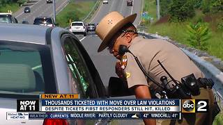 Move Over Law: Drivers still violating law and it's costing lives - Video
