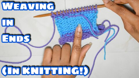 How to Weave in Ends as You Go in Knitting