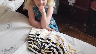 Little Girl Grins From Ear to Ear When She Learns She's Going To Be Big Sister
