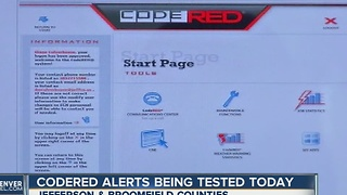 Broomfield & Jefferson counties to test CodeRED - Video