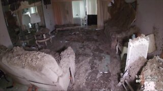 Pasco County family's roof comes off after storm