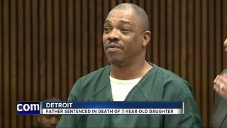 Father sentenced in death of 7-year-old daughter