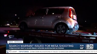 Police confirm search warrant served in relation to Mesa drive-by shooting