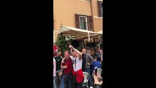 Liverpool fans sing in Rome bar before Champions League semi-final - Video