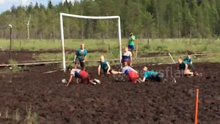 Bored of the World Cup? Try the crazy game of swamp soccer instead - Video