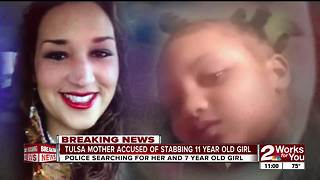Amber Alert: Tulsa mother accused of stabbing daughter