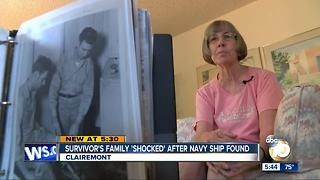 "Survivor's family ""shocked"" after Navy ship found"