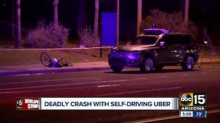 Valley woman hit and killed by self-driving Uber in Tempe - Video