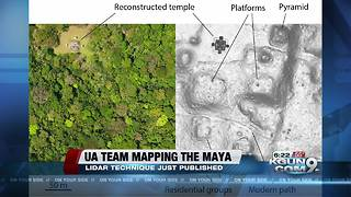 UA research team explores ancient Mayan temples from the air