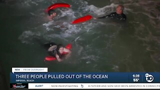 3 people pulled from ocean in Imperial Beach