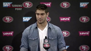 Jimmy Garoppolo On Leading The 49ers Over The Titans - Video