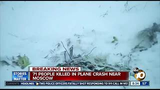 More than 70 people feared dead after plane crashes near Moscow