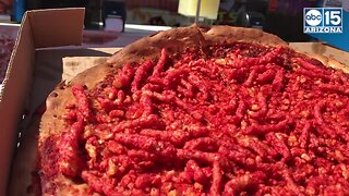 WOULD YOU? Flamin' Hot Cheetos Pizza at the Arizona State Fair - ABC15 Digital