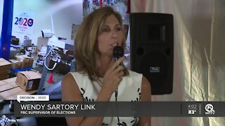 Palm Beach County Supervisor of Elections holds news conference about early voting, mail-in ballots