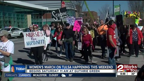 Women's March in Tulsa happening this weekend