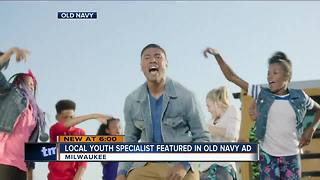 Local youth specialist featured in Old Navy ad - Video