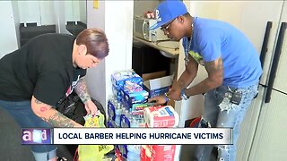 Local barber collecting donations to help areas ravaged by Dorian
