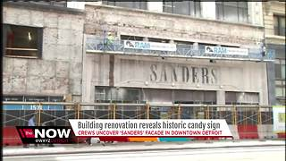 Sanders building renovations reveal old sign - Video
