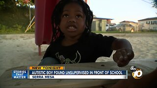 Parents concerned after autistic son found playing unsupervised outside school