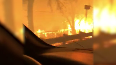 Father Sings to 3-Year-Old Daughter as They Flee Raging Camp Fire in Paradise, CA