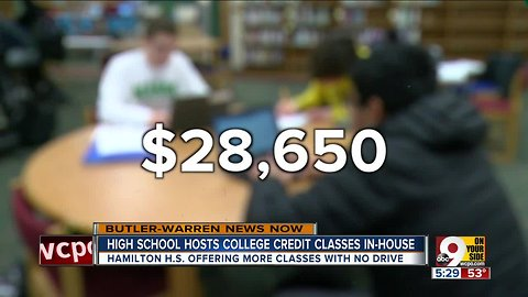 Hamilton High School hosts college credit classes in-house