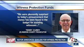 $300,000 dedicated to Indianapolis witness protection program - Video