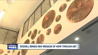 Roswell Park's art is sending a new message of hope - Video