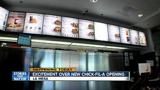 Grossmont Chick-fil-A grand opening - Video