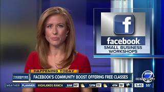 Facebook's community boost offering free classes - Video
