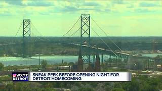 Sneak peek of Michigan Central Depot before opening night of the Detroit Homecoming - Video