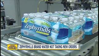 Zephyrhills brand water not processing new orders because of Hurricane Irma - Video