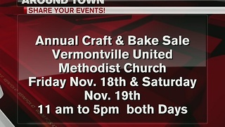 Around Town 11/17/16: Annual craft & bake sale - Video