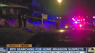Woman killed during home invasion in northeast Baltimore