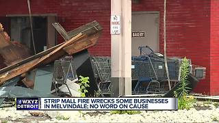 Fire at Melvindale strip mall forces some homes to evacuate - Video