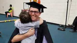 Adorable Toddler Cheers on Father as He Graduates College