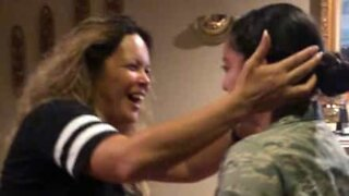 Mom sees daughter again after two-month deployment