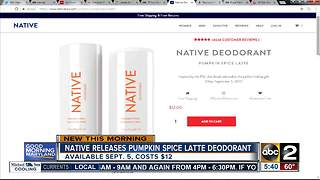 Native releases pumpkin spice latte deodorant - Video