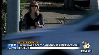 Warning about dangerous intersection - Video
