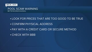 BBB: Watch out for pool scams
