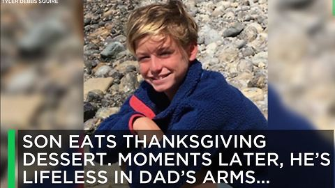 Son Eats Thanksgiving Dessert. Moments Later, He's Lifeless In Dad's Arms