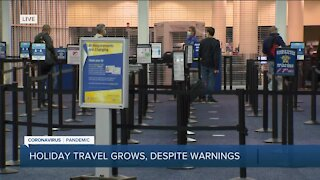 Holiday travel continues despite warnings