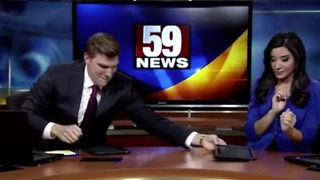 News Anchor Loves To Lip-Sync During Commercial Breaks - Video