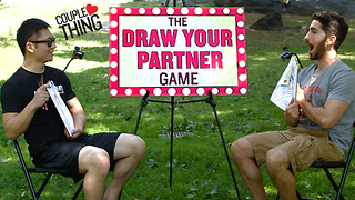 Couples drawing challenge: How to draw your partner - Video